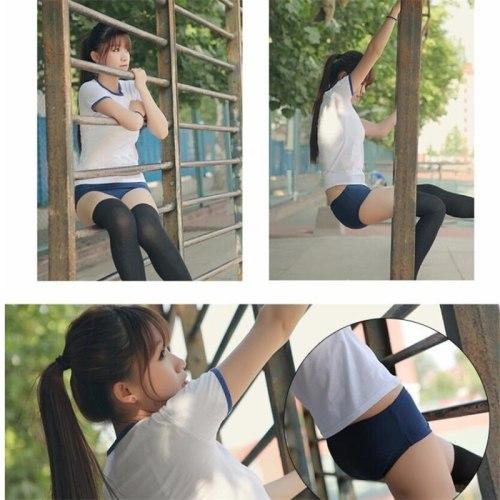 Japanese School Girl Sportwear Bloomers Cosplay Costumes JK Uniform Gym Suit