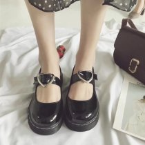 LoveLive Japanese Student Lolita Shoes Cosplay JK Shoes Harajuku Lovely Round Head Heart-shaped