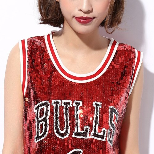 Sexy Fashion Sequins Hip Hop Basketball Baby Cocktail Sport Wear