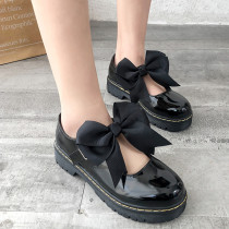 LoveLive Japanese Student Lolita Shoes Cosplay JK Commuter Uniform Retro Shoes Cute Girls Bow Shoes