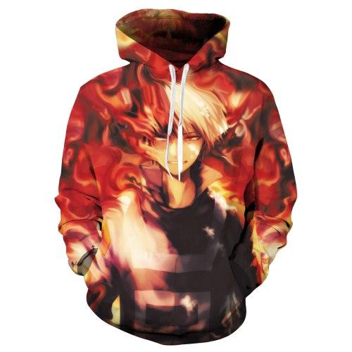 My Hero Academia Boku no hero Academia 3D Print Hoodies Cosplay Hooded Jacket