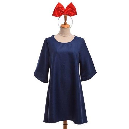 Anime Ghibli Kiki's Delivery Service Cosplay Costume Blue Dress Halloween Fancy Dress
