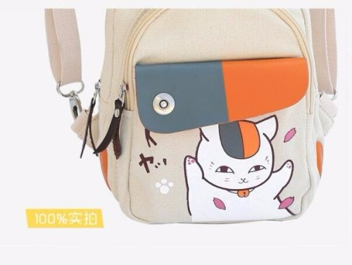 Anime Natsume Yuujinchou Backpack Canvas Schoolbags