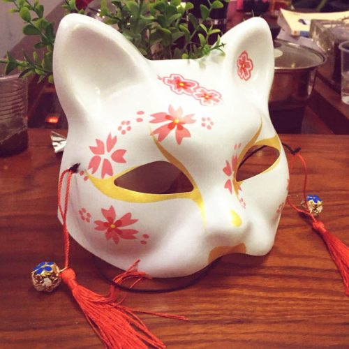 Japanese Cat Natsume Book of Friends Fox Half Face Animal Mask