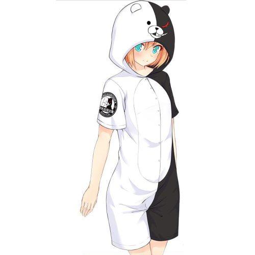 Danganronpa Black and White Bear Monokuma & Natsume Yuujinchou Madara Cosplay Onesie Sleepwear