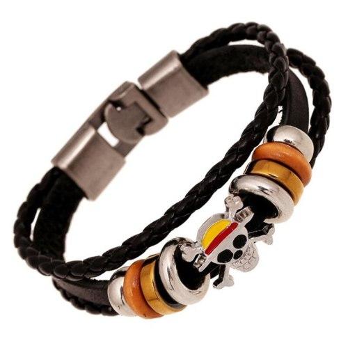 Anime One Piece Bracelet Pirates Logo Cosplay Accessories Badge
