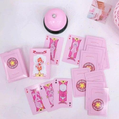 Anime Cardcaptor Sakura Clow Card Cosplay Props KINOMOTO SAKURA Card Captor Sakura Cards Tarot 54pcs 2 Types