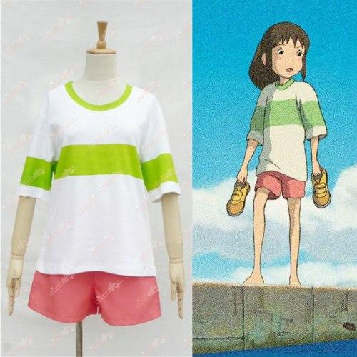 Anime Spirited Away Ghibli Studio Chihiro Ogino Cosplay Costume