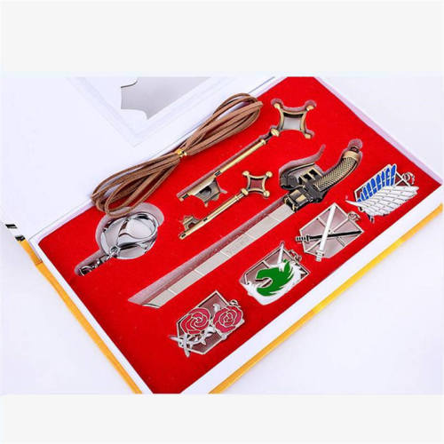 Anime Attack on Titan Mikasa Levi Ackerman Cosplay Prop Symbol Necklace Pendant Keychain Badge Collection