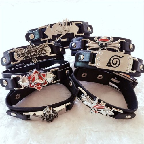 Game Anime Naruto Bracelet One Piece Hand Band Hero League Bracelet