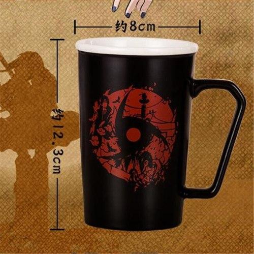 Classic NARUTO Akatsuki Uchiha Itachi Cosplay Props Mug Sharingan Logo Ceramics Cup