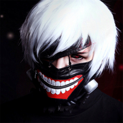 Classic Anime Tokyo Ghoul Kaneki Ken Cosplay Props Rubber Mask Wig