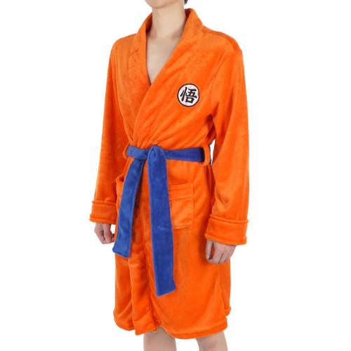Anime Dragon Ball Cosplay Costumes Son Goku Flannel Pajamas Robes Casual Bathrobe