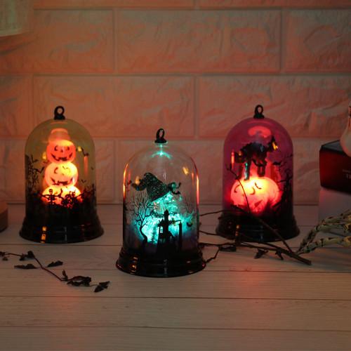 Halloween Decorative Lights Pumpkin Witch Decoration Lamp Festival Props Night Light Lamp 1pc
