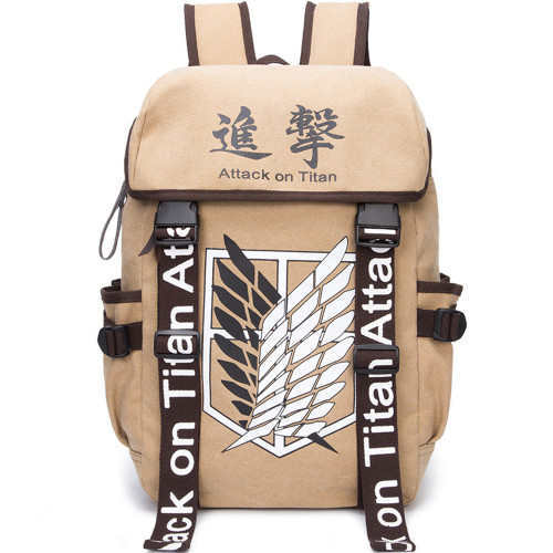 Attack on Titan Backpack Free Wing Student Canvas Bag