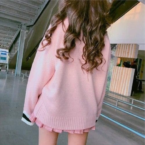 Harajuku JSK Uniform V-collar Sweater