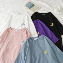 Harajuku Summer Weather Pattern Casual T-shirt