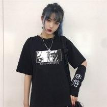 Are You Afraid of The Dark Japanese Casual T-shirt Harajuku Dark Anime Fashion