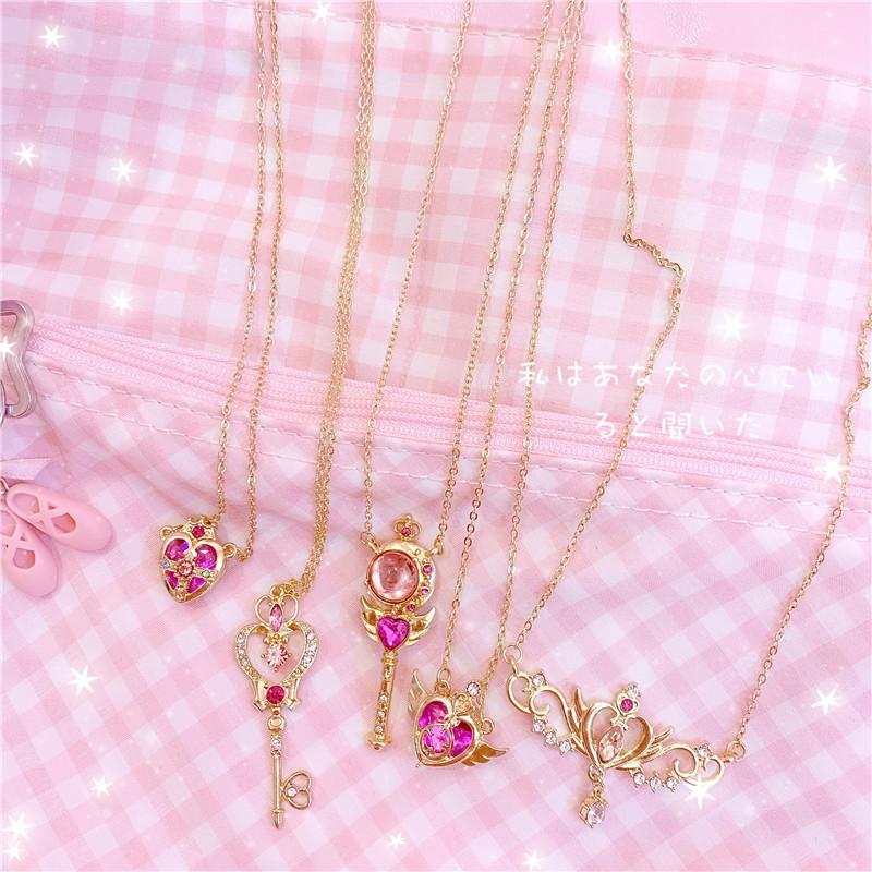 Kawaii Janpan Anime Card Captor Sakura Bracelet Bangle Bowknot Pendant Jewelry