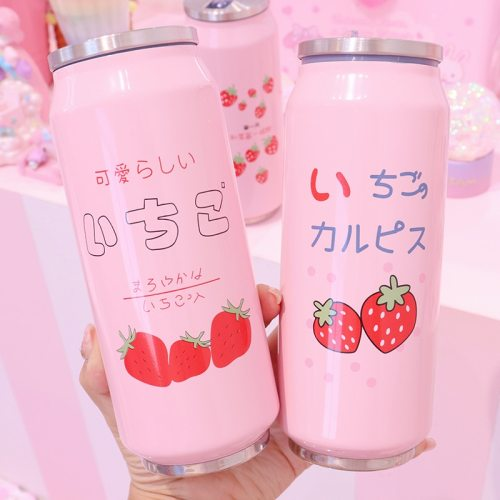 Thermal Flask With Straw Stainless Steel Sport Insulation Cup Portable Water Bottle Vacuum Tumbler Mug Thermocup