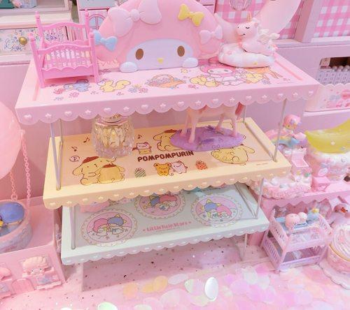 Cartoon My Melody Pompompurin Little Twin Stars Cute Cosmetic Display Folding Storage Doll House