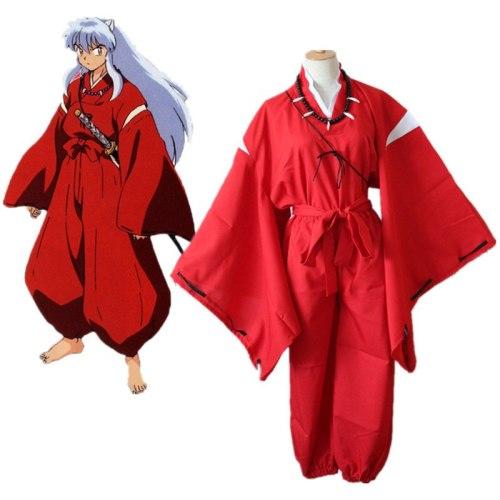 Anime Inuyasha Cosplay Costumes Red Japanese Kimono Higurashi Kagome Kikyō Sesshoumaru