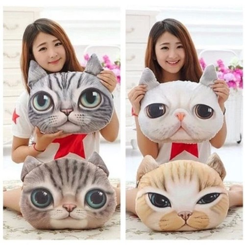 35cm*36cm 3D Pillow Cushion Car Cushion Creative Cat Nap Pillow Cute Seat