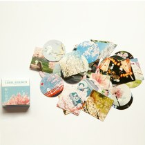 Japanese cherry blossom Memo pad Stickers Posted It Kawaii Planner Scrapbooking Stationery Sticker Escolar School Supplies