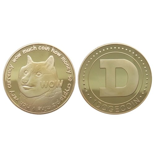 1pcs Doge Coin Virtual Currency Commemorative Golden Hottest DOGE Coin Art Collection Dia 38mm