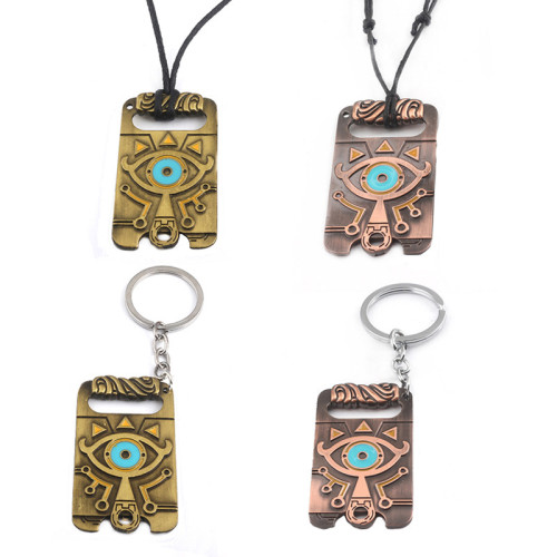 The Legend of Zelda Sheikah Slate Breath of the Wild Cosplay Pendant Keyring Key Chain Necklace