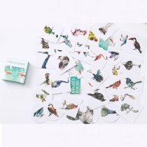 cute Cartoon birds Memo pad Stickers Posted It Kawaii Planner Scrapbooking Stationery Sticker Escolar School Supplies