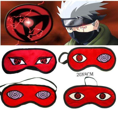 Naruto Uchiha Madara Sharingan Light Cover Mask Eye Cover Sleeping Mask Blindfold Goggles Blinder Eye Patch Cosplay Prop