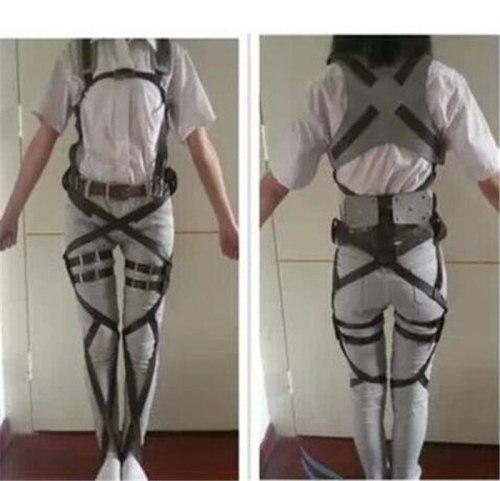 Attack on Titan Shingeki no Kyojin Recon Corps Harness belt hookshot Costume Adjustable Belts