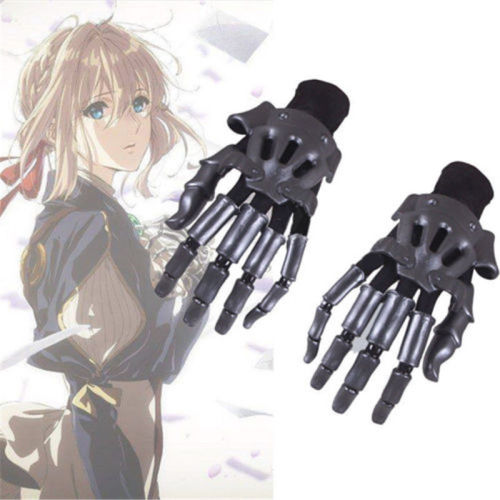 Anime Violet Evergarden Accessory Auto Memories Doll Gauntlet Knuckles Glove Costume Cosplay Prop