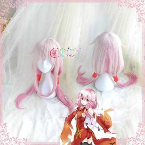 Anime Guilty Crown Yuzuriha Inori Cosplay Wig Halloween Party Pink Long Hair Pin Hair Clip Wig Aceesories Headwear+ Free Wig Cap