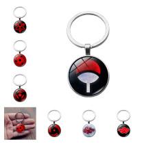 Naruto Uchiha Itachi Cosplay Accessories Keychain Sasuke Akatsuki Pain Sharingan Rinnegan Metal Pendant Key Ring Key Chain New