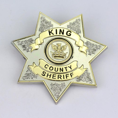 The Walking Dead Star King County Uniform Sheriff Letter Badge Brooch Gaes Jewelry Cosplay Lapel Pin Brooches Props Accessories