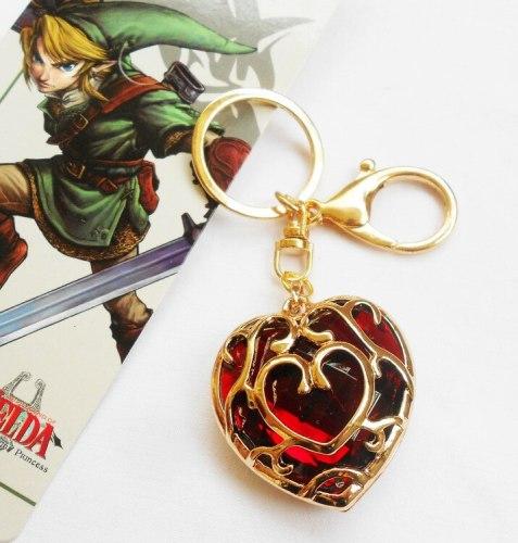 Legend Of Zelda Red Heart Crystal Necklace Alloy Pendant Necklace