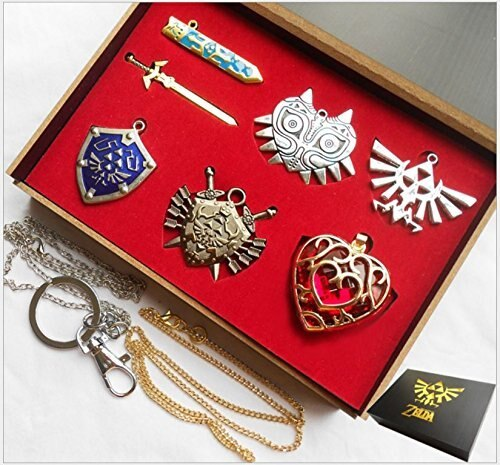 Legend of Zelda Necklace key chain Necklace 6pcs Weapons Set anime Cosplay