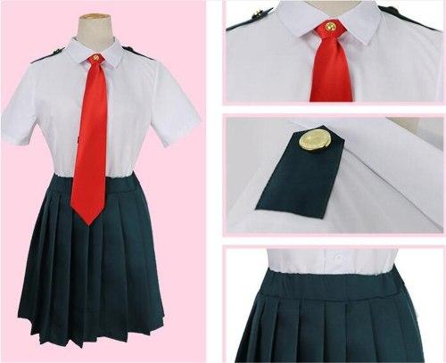 Boku no Hero Academia My Hero Academia Ochako Uraraka Tsuyu Asui Summer Uniform Dress Cosplay Costume Full Sets A1017