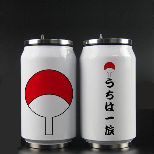 Anime Naruto Uchiha Itachi Akatsuki Cosplay Prop Sharingan Water Cup School Teen Drink Coffee Thermos Cup Stainless Steel Bottle