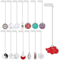 15 Style Anime NARUTO Akatsuki Uchiha Itachi Cosplay Accessories Kakashi Konoha Pendant Metal Necklace Kids Adult Keychain Gifts