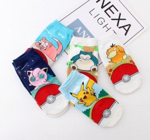 Unisex Sock Anime Pokemon Pikachu Cosplay Props Cotton Stockings