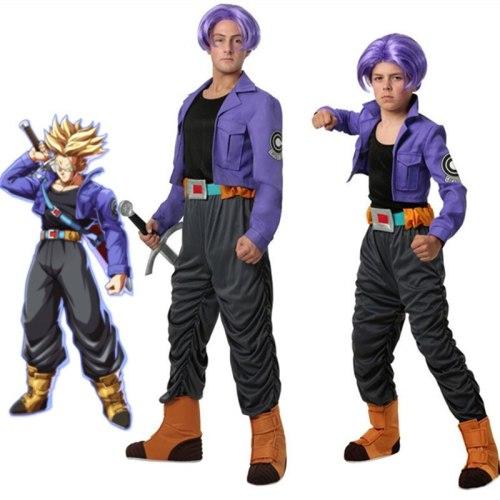 Dragon Ball Z Trunks Cosplay Costume Uniform