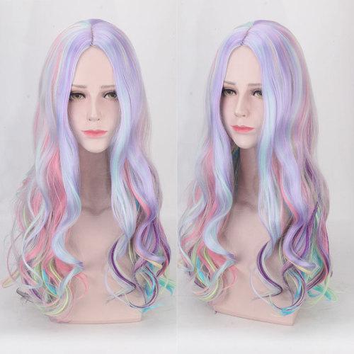 Colorful Rainbow Wig Halloween Wig