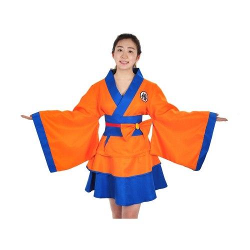 Dragon Ball Lolita Skirt Goku Kimono Skirt