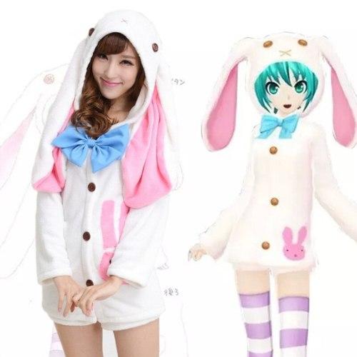 VOCALOID Hatsune Miku Pajamas Uniforms Rabbit Pajamas
