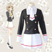 Card Captor Wig Cosplay KINOMOTO SAKURA School Uniform