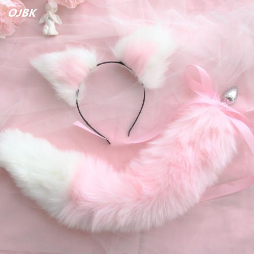 Cat Ears Headbands Fox Tail
