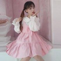 Lolita Dress Vintage Ruffles Skirt Puff Sleeve